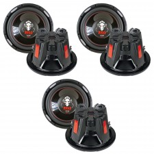 "(3) Boss P126DVC 12"" Car Subwoofers, 6,900 Watts Total, Dual 4 Ohm Subs"