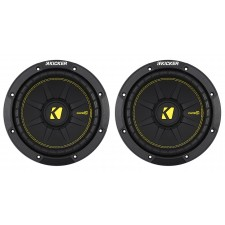 (2) KICKER 44CWCS84 CompC 8 800w Single 4-Ohm Car Audio Subwoofers Subs CWCD84