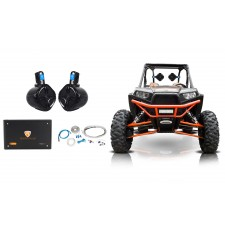 "2) Rockville 6.5"" 250w Rollcage Tower Speakers+4-Ch Amplifier 4 ATV/UTV/RZR/CART"