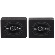 (2) Kicker 43DSC69304 DSC6930 6x9 360w 3-Way Car Speakers+(2) Enclosures DS693