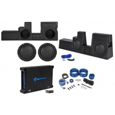 """2000-16 Ford F250/350/450 Super Duty (2) 12"""" Polk Audio Subwoofers+Box+Amp+Wires"""