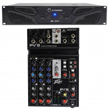 Crown Pro XLi3500 2700w 2-Channel PA Professional Power Amplifier+Peavey Mixer