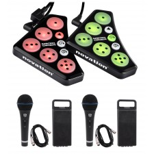 Novation DICER USB Digital Cue Point Serato/Traktor MIDI DJ Controller+(2) Mics