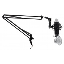 Rockville Recording Condenser Podcasting Broadcasting Microphone+Mic Boom Arm
