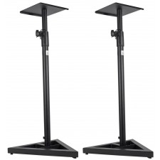 ProX Cases X-MS12 Pair of Heavy Duty Studio Monitor Stands w/ Adjustable Height