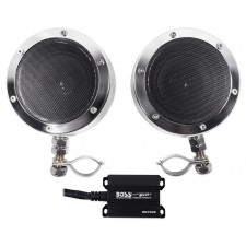 "Pair Boss MC720B 4"" 1000 Watt Motorcycle/ATV Handlebar Speakers+Amplifier+Remote"
