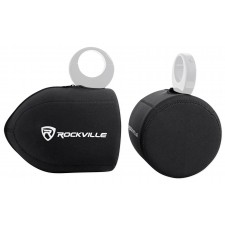 """Rockville Neoprene Covers For 2) MB Quart NHT1-120LW 8"""" Wakeboard Tower Speakers"""