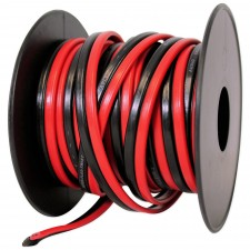 Rockville R14GSBR25 Red/Blk 14 Gauge 25' Ft. Mini Spool Car Audio Speaker Wire