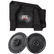 "10"" Sub+Amp+Front Speakers For 07-15 Chevy Silverado/Sierra 1500/2500 Double Cab"