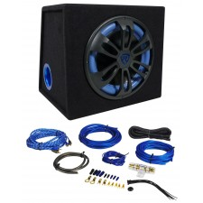 Rockville RVB12.1A 12 Inch 500W Powered Car Subwoofer+Sub Enclosure Box+Amp Kit