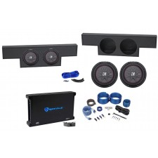 """2004-2006 GMC/Chevy Crew Cab Dual 10"""" Kicker Subwoofers+Amp+Ported Sub Box+Wires"""