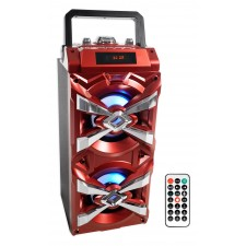 """NYC Acoustics X-Tower Dual 4"""" Bluetooth Speaker w/ Sound Activated LED's+Remote"""