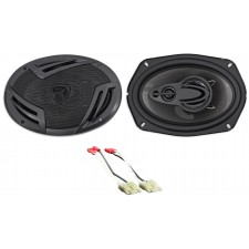 "6x9"" Rockville Rear Deck Speaker Replacement Kit For 1984-1991 Cadillac Seville"