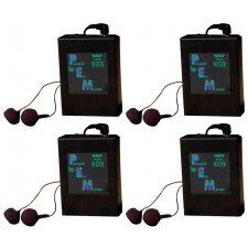 Set Of 4 Nady EO3 RX AA Add On In-Ear Monitor Wireless Receivers For EO3 System