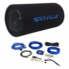 "Jeep Wrangler 87-06 8"" Powered Subwoofer Sub Bass Tube+MP3 Input+Amp Kit"