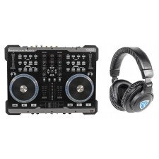 American Audio VMS2 USB MIDI DJ Controller+Touch Scratch Wheel VMS702+Headphones