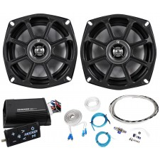 "Kicker 10PS52504 5.25"" Harley Davidson Motorcycle Speakers+Bluetooth Amplifier"