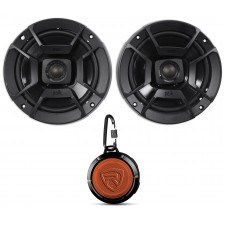 "(2) Polk Audio DB652 6.5"" 300w Car/Marine/Motorcycle Speakers+Speaker"