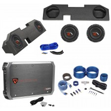 "Dual 10"" Sub Box+(2) Subs+Amp+Kit For 2002-15 Dodge Ram Crew/Quad XCab 2500/3500"
