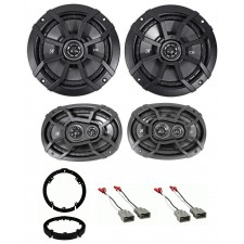 """2009-2014 Acura TL Kicker CSC 6.5""""+6x9"""" Front+Rear Deck Speaker Replacement Kit"""