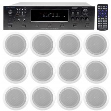 """Technical Pro 6000w  6) Zone, Home Theater Bluetooth Receiver+12) 6.5"""" Speakers"""