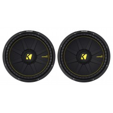 """(2) KICKER 44CWCS154 CompC 15"""" 2400w SVC 4-Ohm Car Audio Subwoofers Subs CWCS154"""