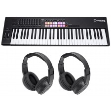 Novation LAUNCHKEY 61 MK2 MK11 61-Key USB/MIDI Controller Keyboard+2) Headphones