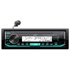 JVC KD-X35MBS In-Dash Digital Media Marine Bluetooth Receiver iPhone/Sirius XM