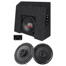 "10"" Sub+Amp+Front Speakers For 2007-2016 Chevrolet Silverado/GMC Sierra Crew Cab"