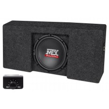 "10"" Powered MTX Subwoofer+Sub Box Enclosure For 09-15 Ford F-150 SuperCrew Cab"