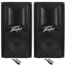 """(2) Peavey PV112 12"""" Inch Passive PA Speaker Monitor +(2) FREE Speaker Cable"""