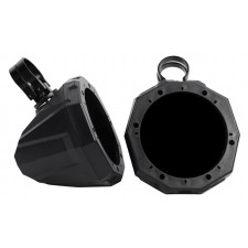 """Pair SSV Works 6.5"""" Roll Cage Roll Bar Tower Speaker Pods Enclosures + 2"""" Clamps"""