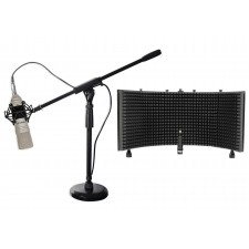 CAD Audio MixDown X1 Studio Condenser Microphone Mic+ShockMount+Stand+Iso Shield