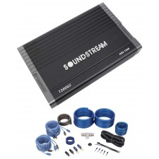 SOUNDSTREAM AR4.1200 Arachnid 1200 Watt 4-Channel Car Audio Amplifier+Amp Kit