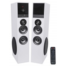 "Rockville TM8W White Powered Home Theater Tower Speakers 8"" Sub/Blueooth/USB"