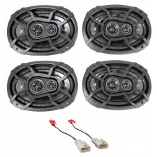 "Kicker 6x9"" Front+Rear Factory Speaker Replacement Kit For 2002-06 Toyota Camry"