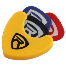 Rockville PH-Yellow Pick Holder with Sticky Adhesive - Holds 3 to 4 Picks
