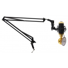 Rockville Recording Condenser Podcasting Broadcasting Microphone Mic+Arm Stand