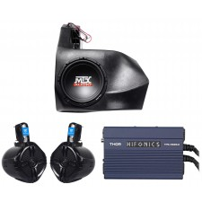 2012-2016 CAN-AM Commander/Maverick Non-X3 Powered Subwoofer+Box+2) Speakers+Amp