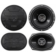 "2) Hifonics ZS693 6x9"" 800 Watt Car Audio Coaxial Speakers+2) 6.5"" 600w Speakers"