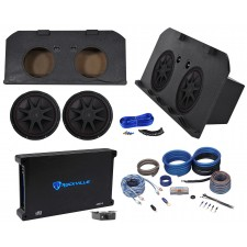"2002-13 Chevy Avalanche+Cadillac Escalade EXT Dual 15"" Kicker Subs+Amp+Box+Wires"