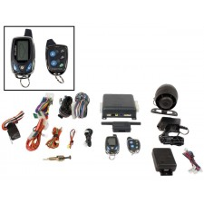 Prestige SS9000 2-Way LCD Alarm Remote Start Car System/Rechargable Remote