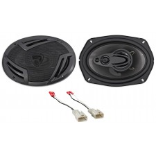 "Rockville 6.5"" Rear Factory Speaker Replacement Kit For 2003-2008 Toyota Corolla"