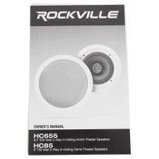 Rockville RPA60BT Home Theater Bluetooth Receiver+ (2) In-Ceiling Speakers+Sub