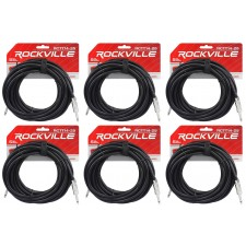 "6 Rockville RCTT1425 25' 14 AWG 1/4"" TS to 1/4"" TS Pro Speaker Cable 100% Copper"