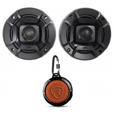 (2) Polk Audio DB402 4 270w Car/Marine/ATV/Motorcycle Speakers+Speaker