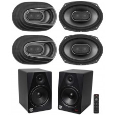 "4) Polk Audio MM692 6x9"" 1800w 3-Way Car Audio Speakers+Free Home Theater System"