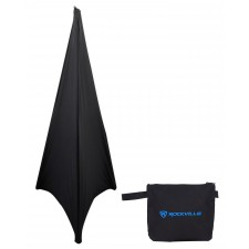 Rockville RSC7B Black Scrim Cloth To Cover Speaker Stand For Church Stage Design