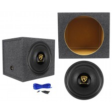 "Rockville W15K9D4 15"" 5000 Watt Car Audio Subwoofer+Sealed Sub Box Enclosure"