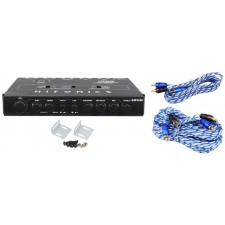 Hifonics HFEQ 1/2 Din 4-Band Equalizer with 9V Line-Driver + 17' & 6' RCA Cables